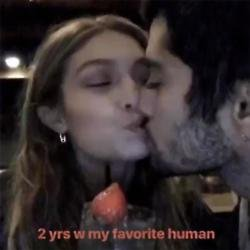 Zayn Malik and Gigi Hadid celebrate two year anniversary