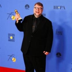Guillermo del Toro at the Golden Globes