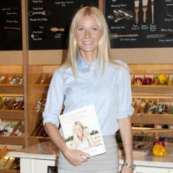 Gwyneth Paltrow looks stylish and sophisticated in her skirt and shirt combo