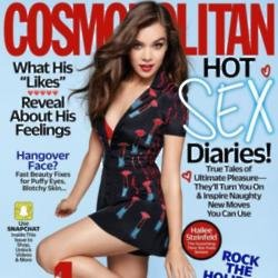 Hailee Steinfeld on the cover of Cosmopolitan magazine