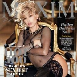Hailey Baldwin on the cover of Maxim magazine