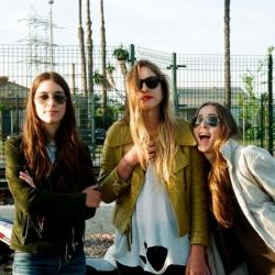 Este Haim with her band Haim
