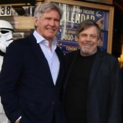 Harrison Ford and Mark Hamill at the ceremony