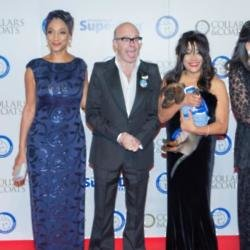 Harry Hill with Sister Sledge at Collars and Coats Gala Ball