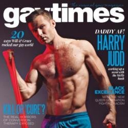 Harry Judd on the cover of Gay Times magazine