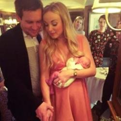 Helen George, Jack Ashton and their daughter (c) Instagram