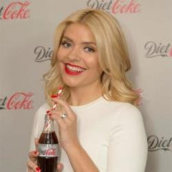 Holly Willoughby at the launch of Diet Coke's new campaign