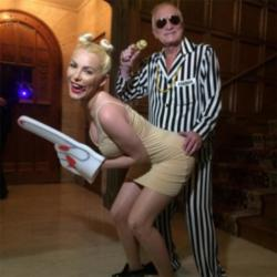 Hugh Hefner and Crystal Harris as Robin Thicke and Miley Cyrus