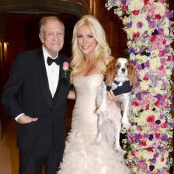 Hugh Hefner and wife Crystal Harris