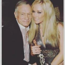 Hugh Hefner and Kendra Wilkinson via Instagram