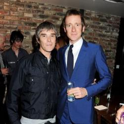 Bradley Wiggins with Ian Brown