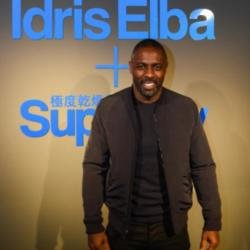 Idris Elba at Superdry launch