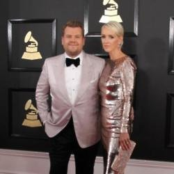 James Corden and his wife Julia at the Grammys 2017