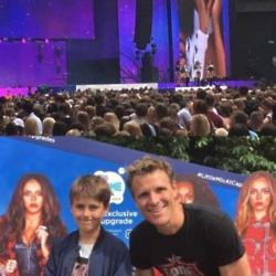 James Cracknell dances to Little Mix for his kids