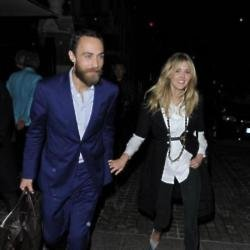 James Middleton with girlfriend Donna Air