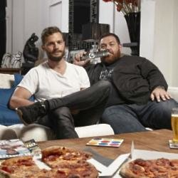Jamie Dornan and Nick Frost on 'Gogglebox'