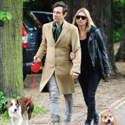 Jamie Hince and Kate Moss with Archie