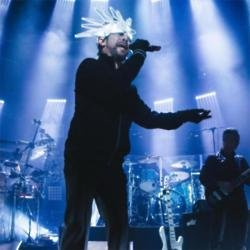 Jamiroquai singer Jay Kay on stage at The Roundhouse