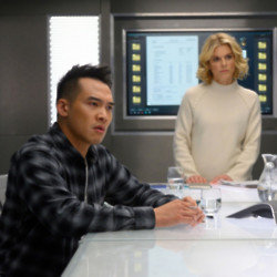 Jason Wong and Emilia Fox