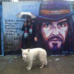 Jemima Khan's picture of Russell Brand posted on Twitter
