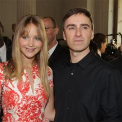 Jennifer Lawrence and Raf Simons