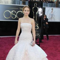 Jennifer Lawrence looked beautiful in Haute Couture Dior