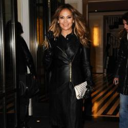 Jennifer Lopez in one of her many looks of the day