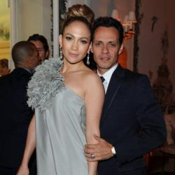 Jennifer Lopez with Marc Anthony