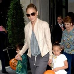 Jennifer Lopez with her children Max and Emme