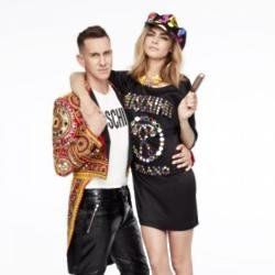 Jeremy Scott and Cara Delevingne in Magnum campaign