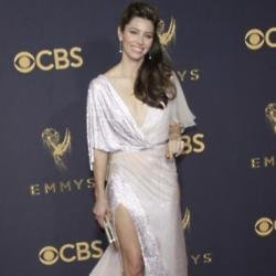 Jessica Biel at the 2017 Emmy Awards