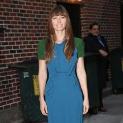 Jessica Biel was promoting her latest film on The Late Show