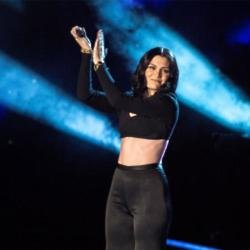 Jessie J performing at WE Day