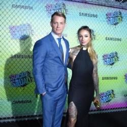Joel Kinnaman with his wife Cleo Wattenstrom at Suicide Squad premiere