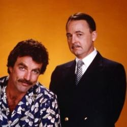John Hillerman (right) alongside Tom Selleck