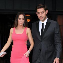 John Krasinski with his wife Emily Blunt