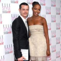 Jonathan Saunders and Naomi Campbell