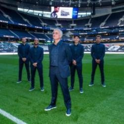 Jose Mourinho and the Spurs players