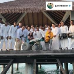 Justin Bieber's Instagram (c) post