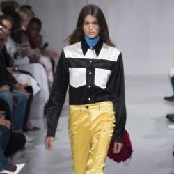 Kaia Gerber on the Calvin Klein runway during NYFW