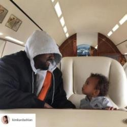 Kanye West and son Saint