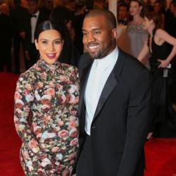 Kim Kardashian and Kanye West 2013 Met Ball