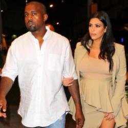 Kanye West and wife Kim Kardashian West