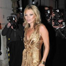 Kate Moss put her own stamp on the dress and wore it backwards