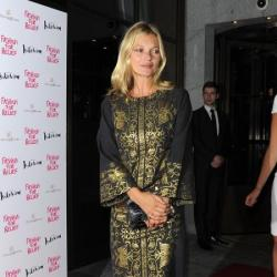 Kate Moss stormed the stage at the Olympic closing ceremony last night