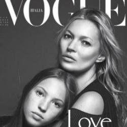 Kate Moss and Lila Grace [Vogue Italia Instagram]