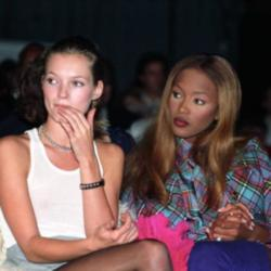 Kate Moss and Naomi Campbell in 1993