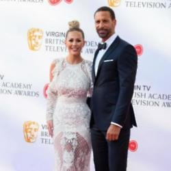 Katie Wright and Rio Ferdinand
