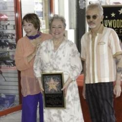 Kathy Bates receiving Hollywood star