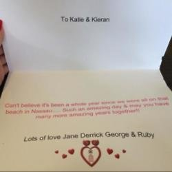 Katie Price's post of Jane's message